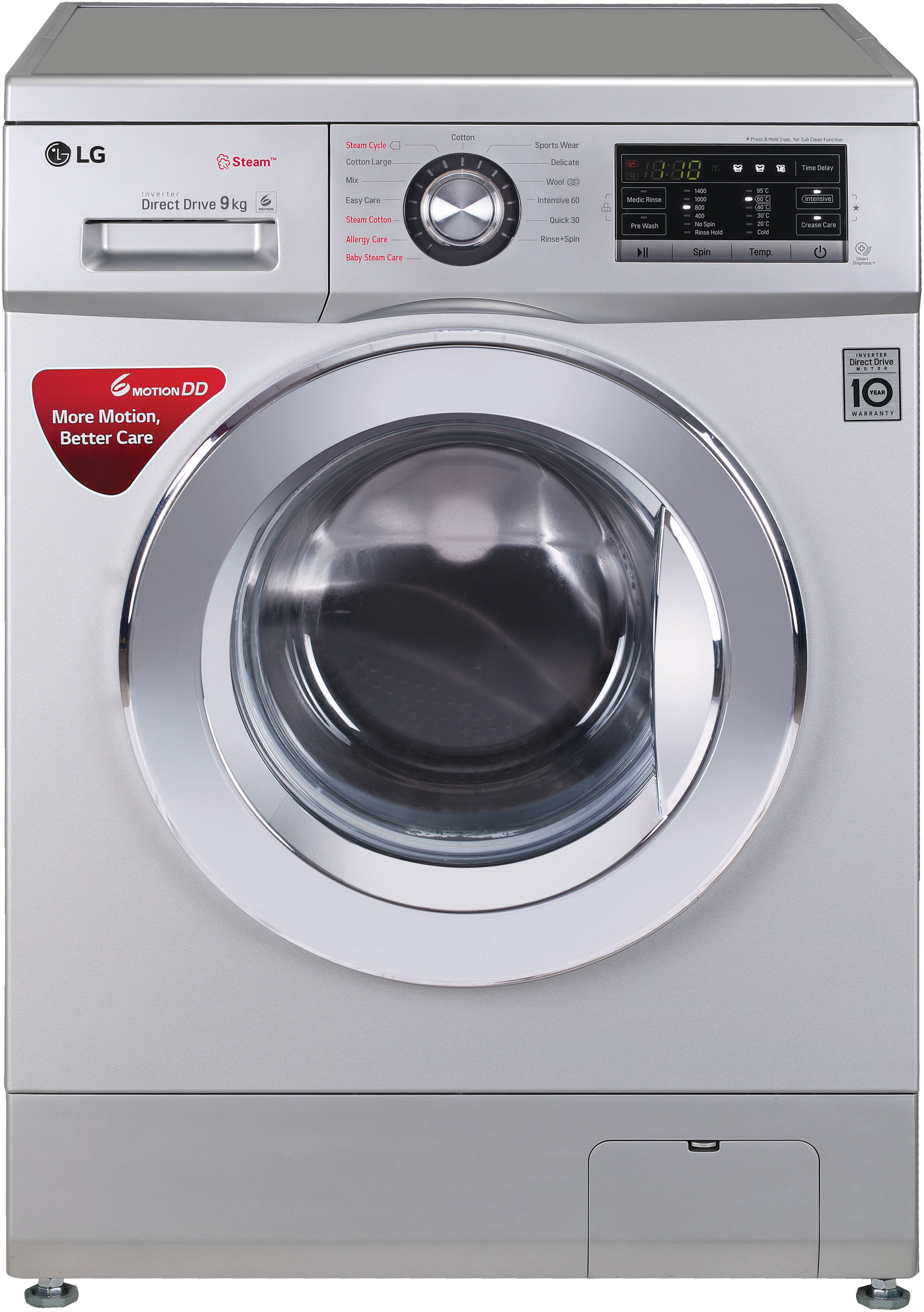 LG 9 kg Fully Automatic Front Load Washing Machine (FH4G6VDYL42) Image