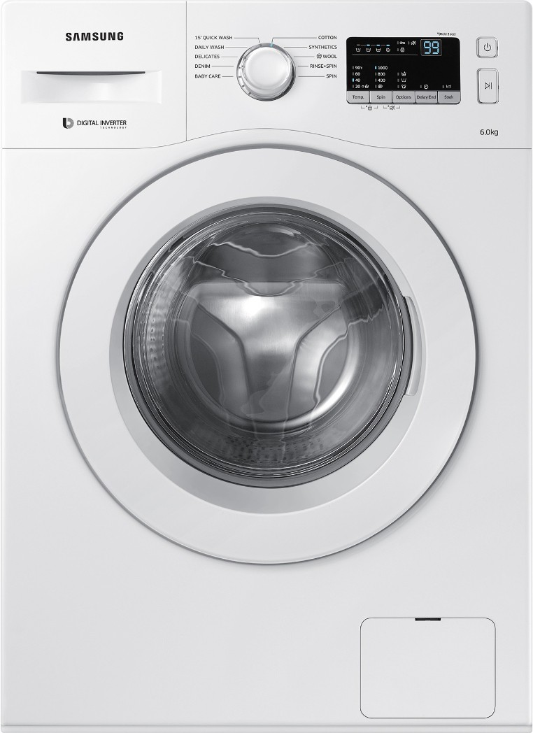Samsung 6 kg Fully Automatic Front Load Washing Machine (WW60M206LMW/TL) Image