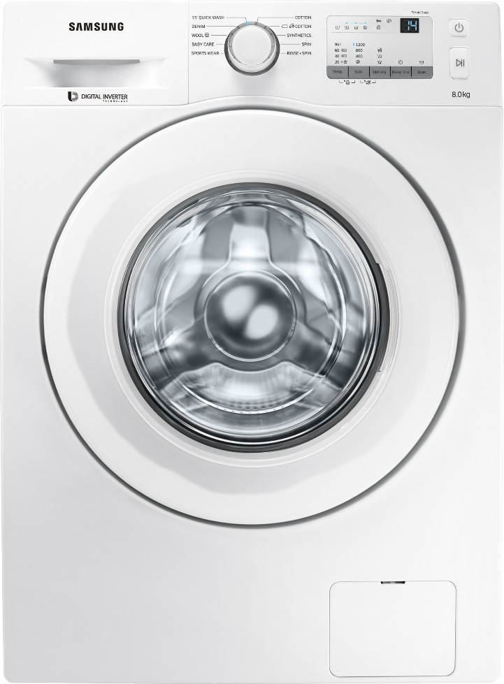 Samsung 8 kg Fully Automatic Front Load Washing Machine (WW80J3237KW/TL) Image