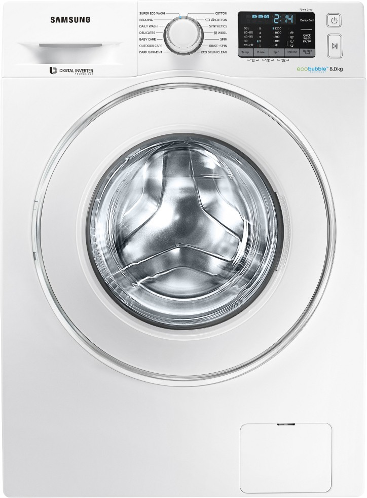 Samsung 8 kg Fully Automatic Front Load Washing Machine (WW80J5210IW/TL) Image