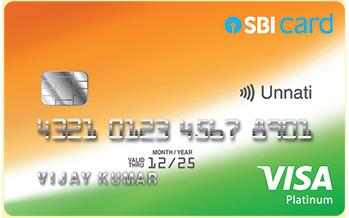SBI Unnati Credit Card Image