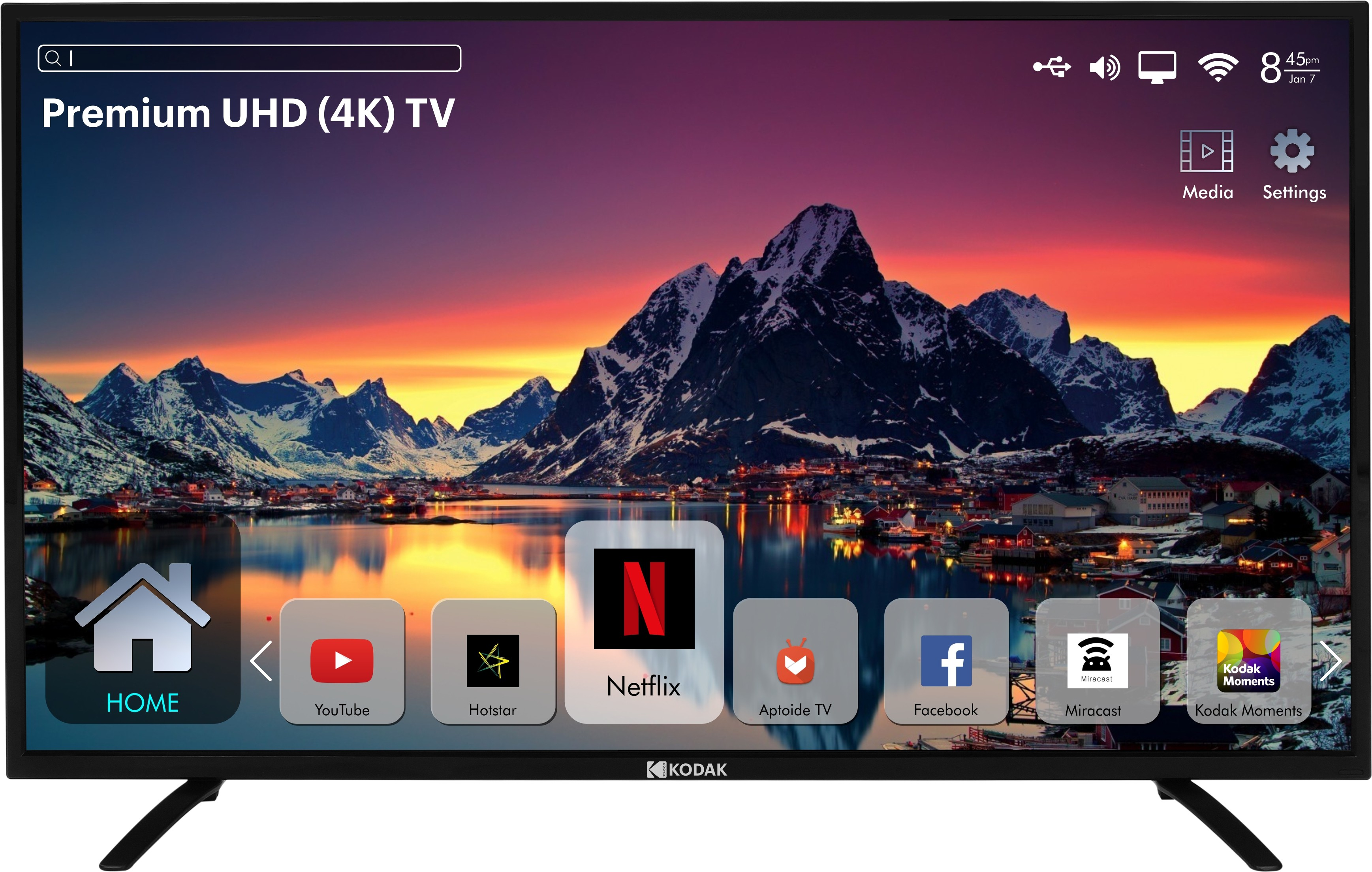 Kodak 140cm (55 inch) Ultra HD (4K) LED Smart TV Image