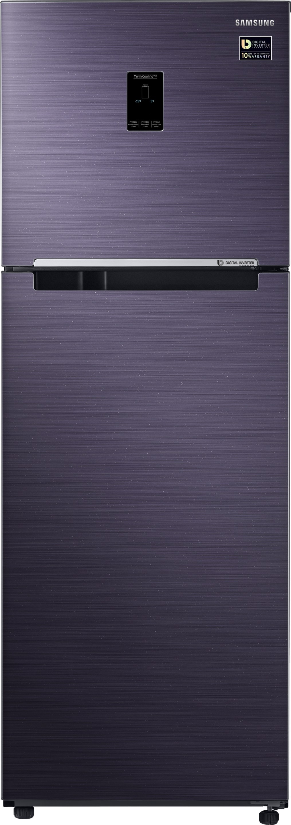 Samsung 345 L Frost Free Double Door 3 Star Refrigerator (RT37M5538UT/TL) Image