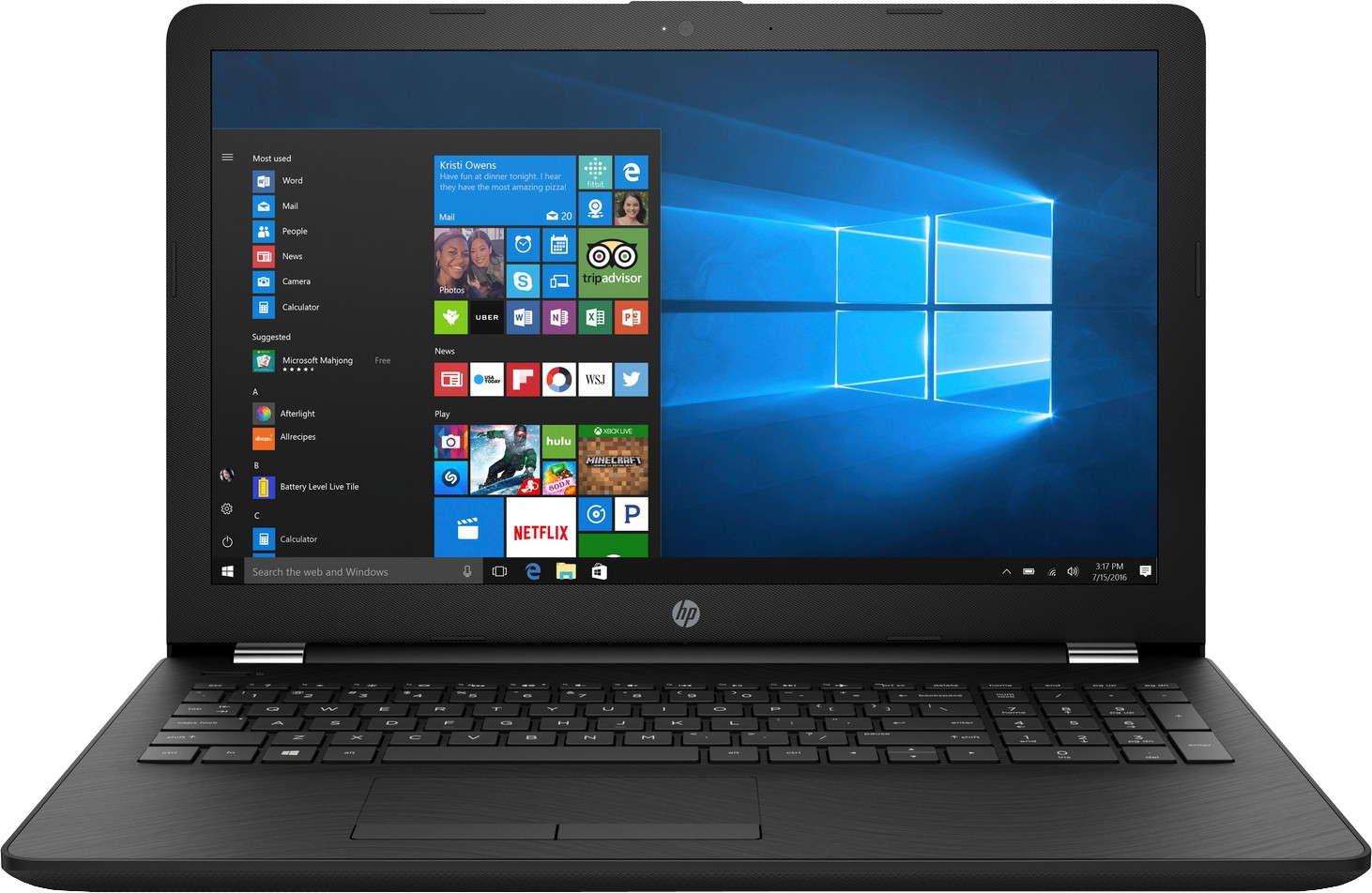 HP 15q Core i3 7th Gen 15q-bu040tu Laptop Image