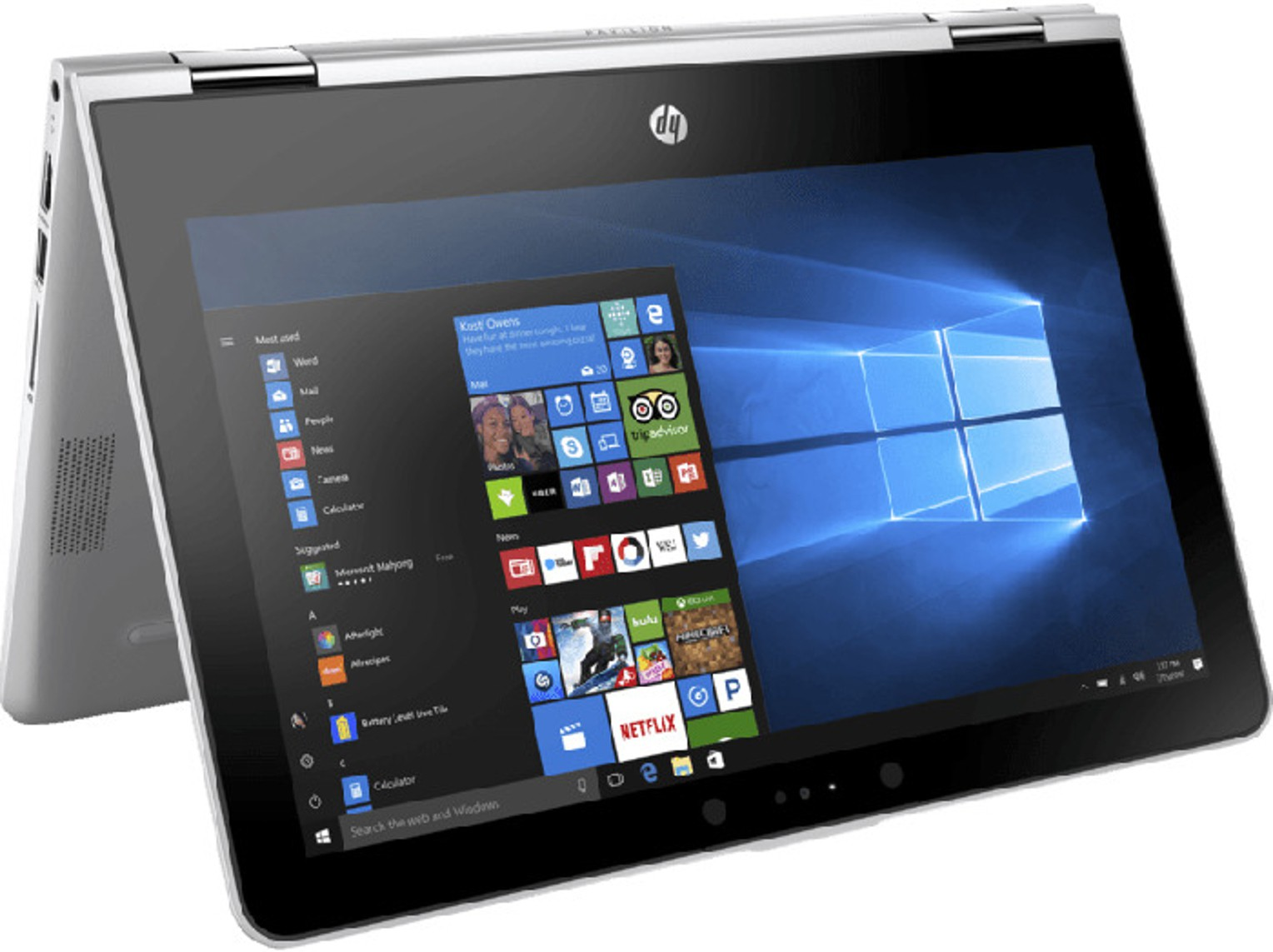 HP Pavilion x360 Core i3 8th Gen 11-ad106tu 2 in 1 Laptop Image