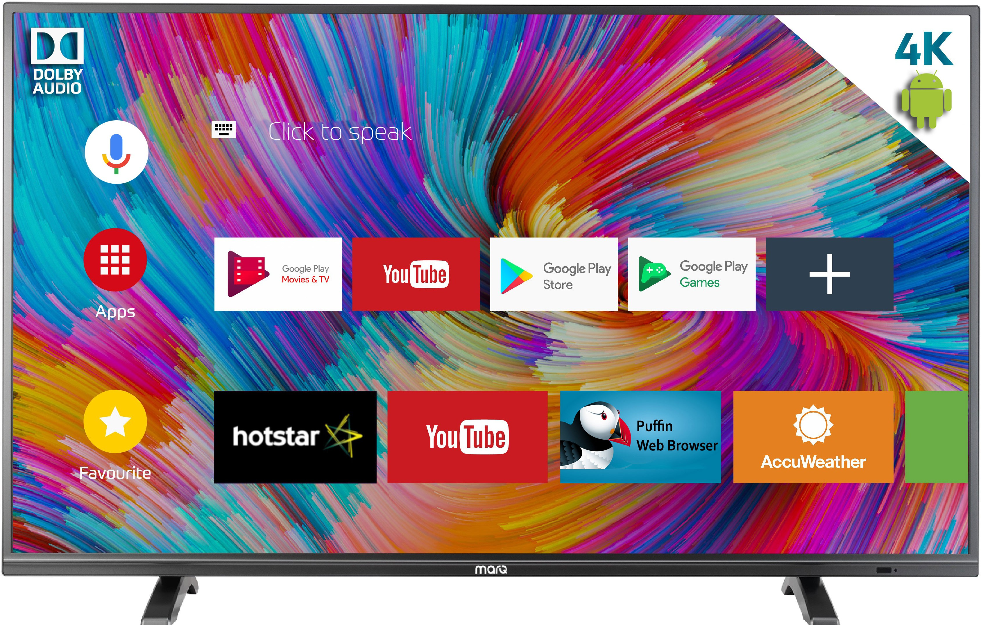 MarQ by Flipkart Dolby Certified Android (43 inch) Ultra HD (4K) Smart LED TV Image