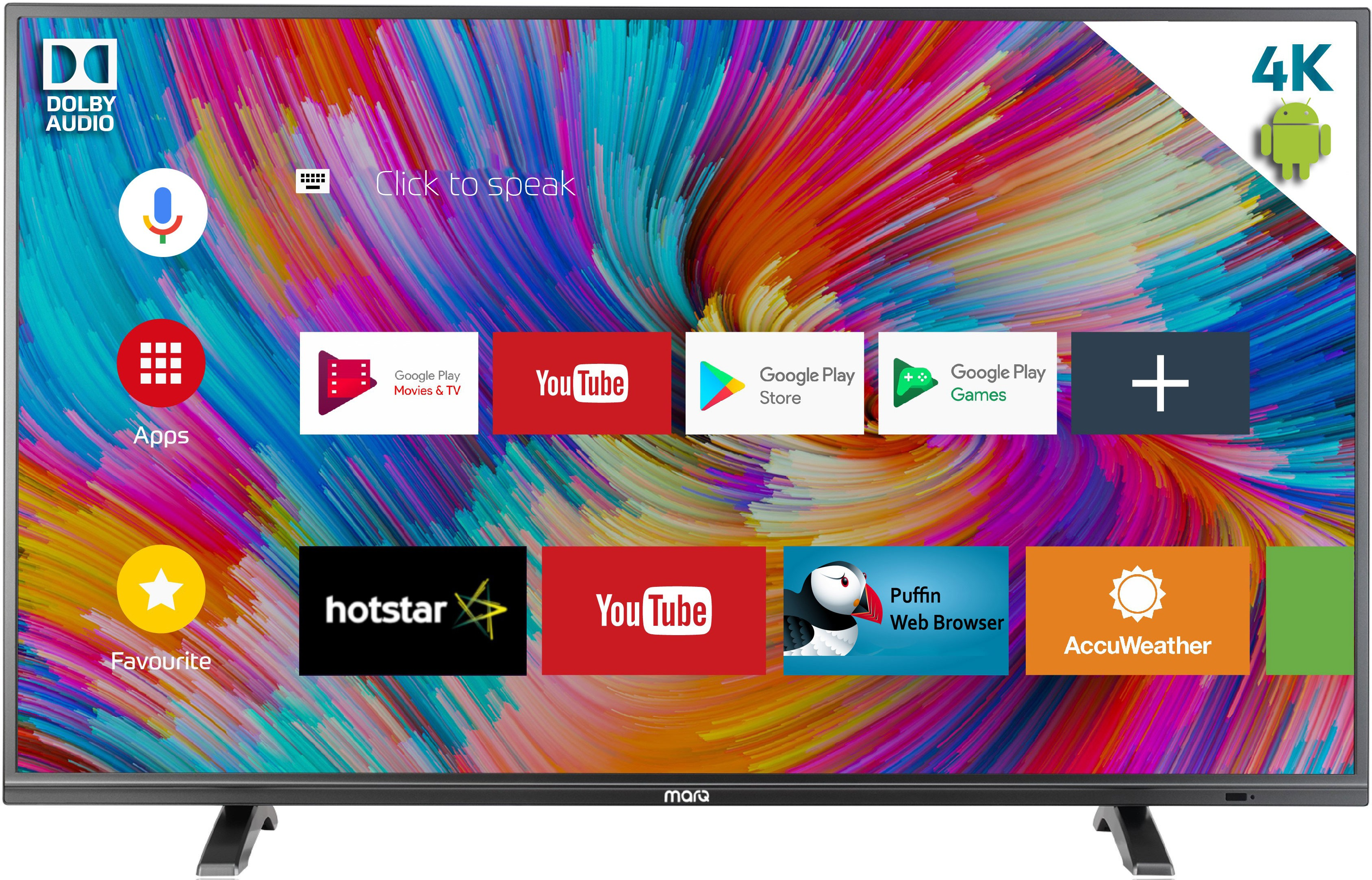 MarQ by Flipkart Dolby Certified Android (65 inch) Ultra HD (4K) Smart LED TV Image