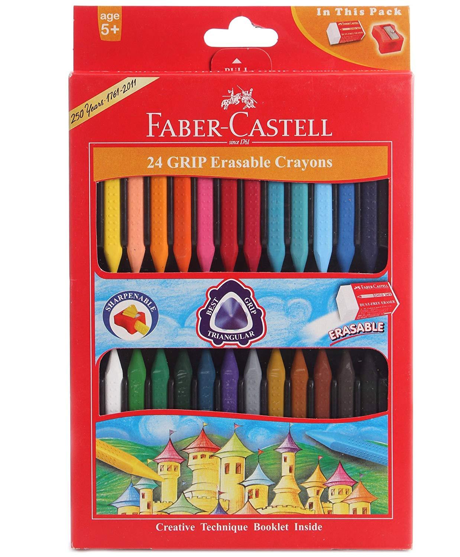 Faber Castell 24 Grip Erasable Crayons Image