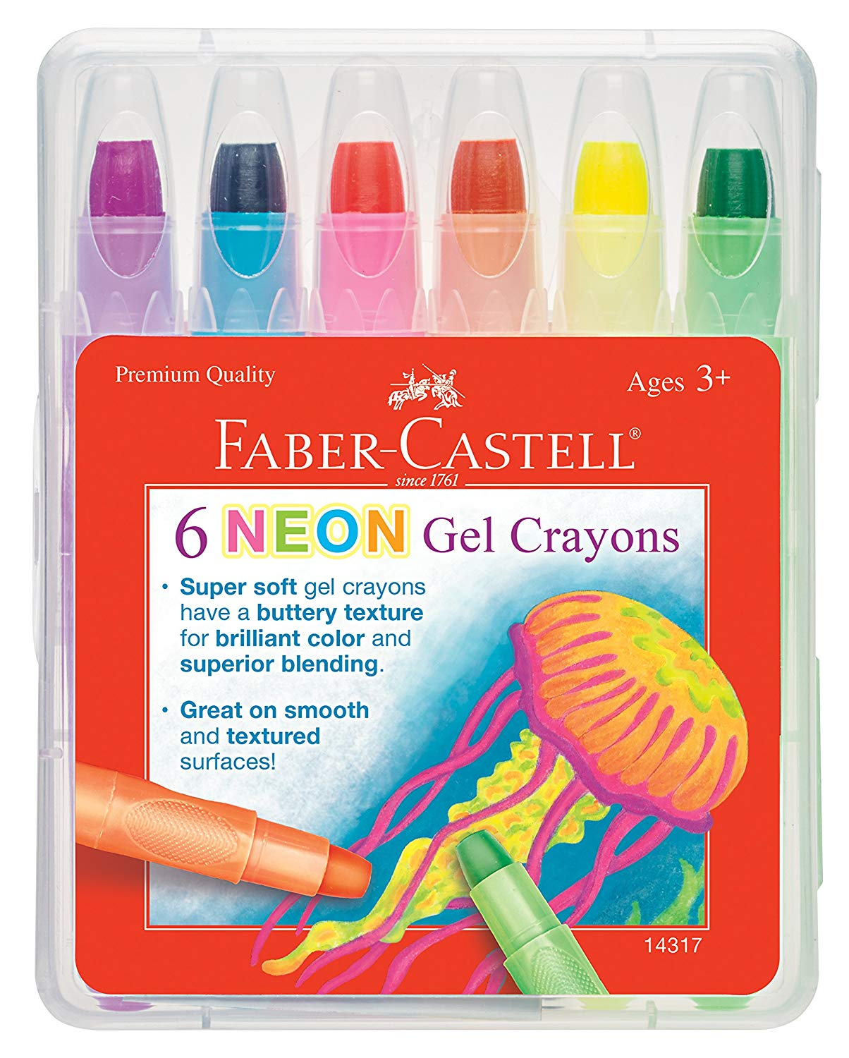 Faber Castell Neon Gel Crayons Image
