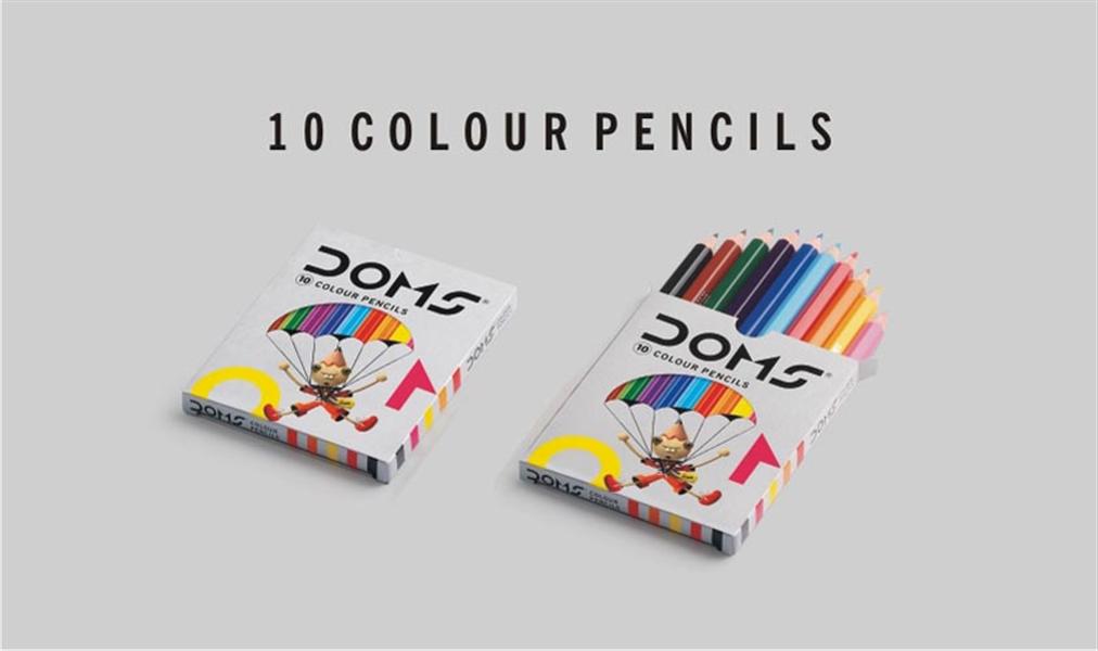 Doms 10 Colour Pencils Image