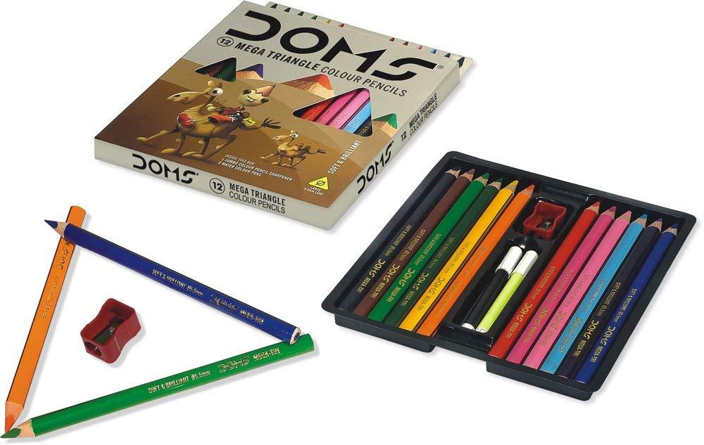 Doms Mega Triangle Colour Pencil Image