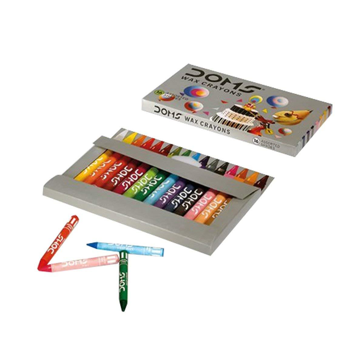 Doms Wax Crayons 16 Shades Image