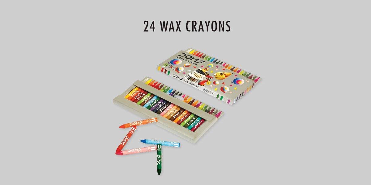 Doms Wax Crayons 24 Shades Jumbo Image