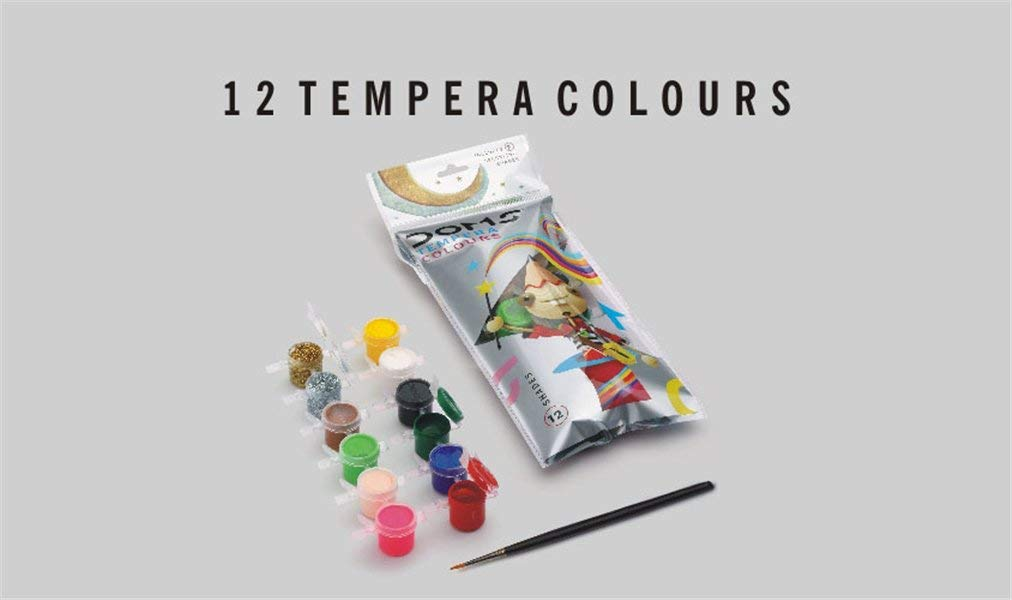 Doms 12 Shades Tempera Colours Image