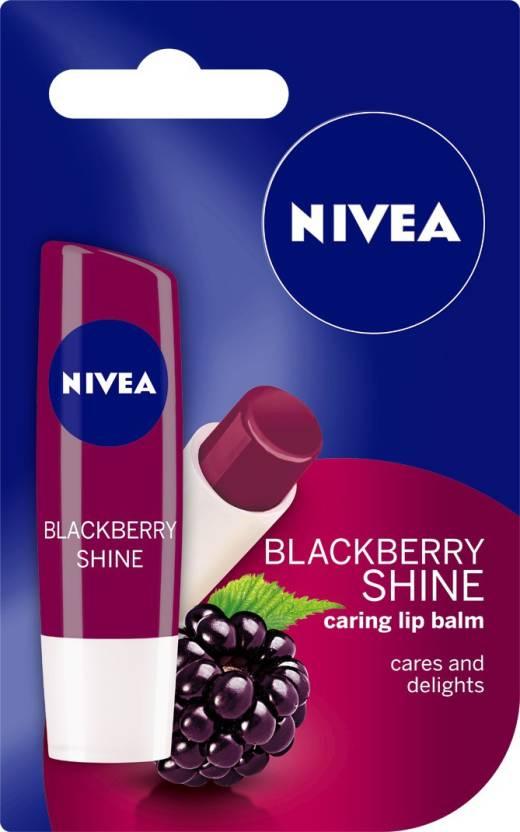 Nivea Blackberry Shine Caring Lip Balm Image