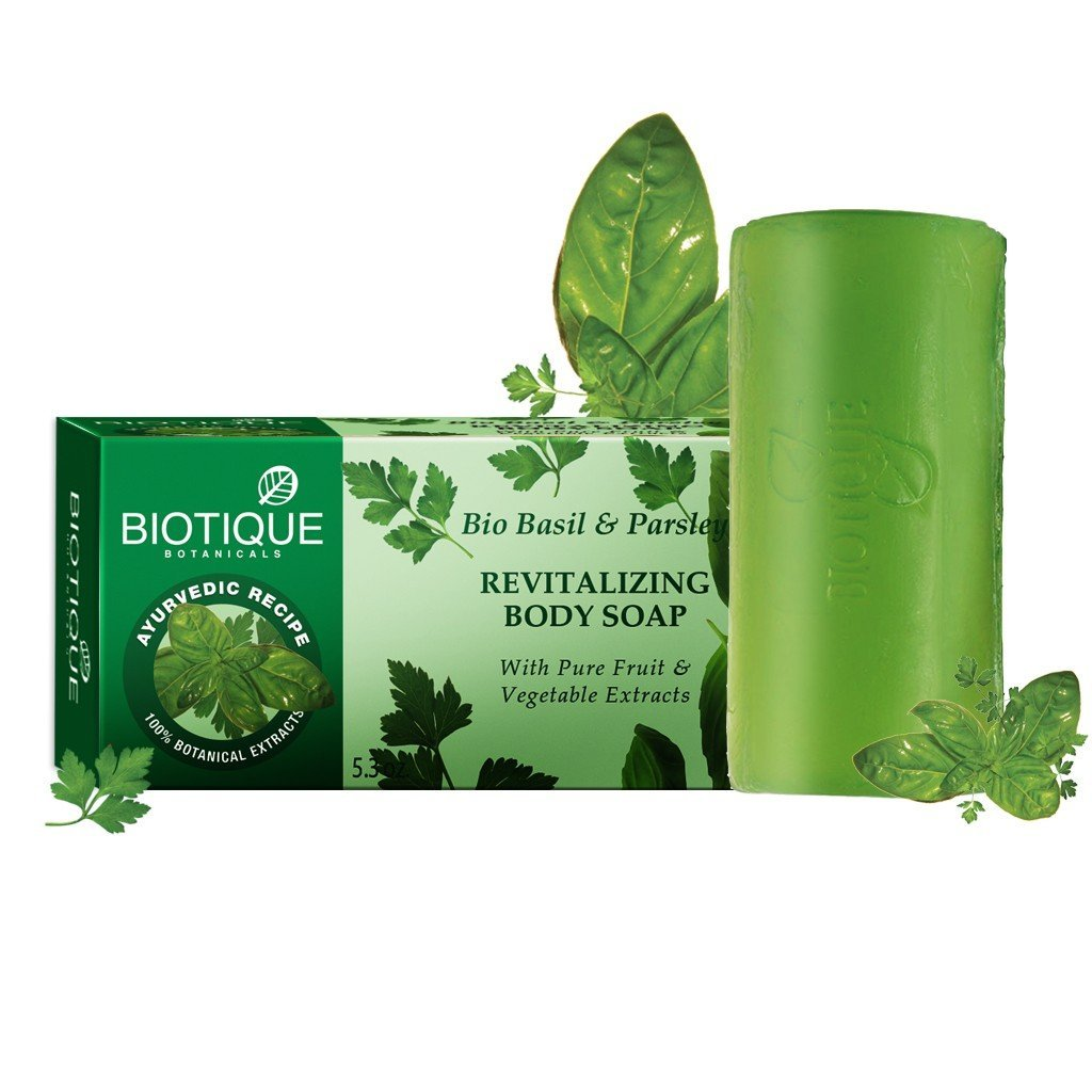 Biotique Basil And Parsley Revitalizing Body Soap Image