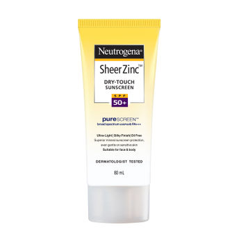 Neutrogena Sheer Zinc Dry Touch Sunscreen SPF50+ Image