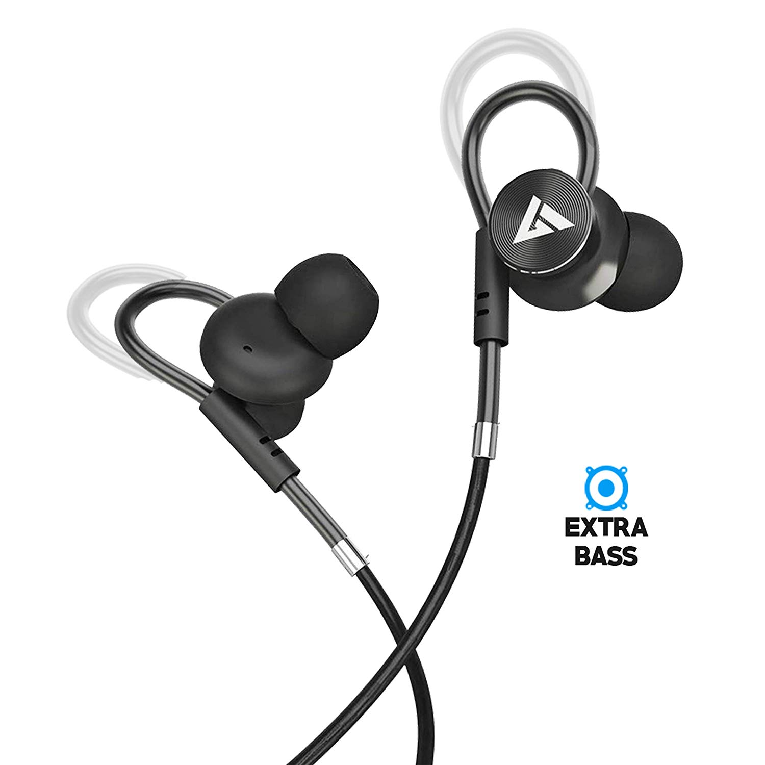 Boult Audio BassBuds Loop in-Ear Wired Earphones with Mic Image