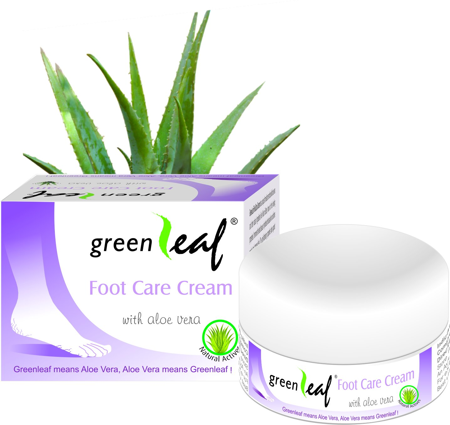Green Leaf Foot Care Cream Image