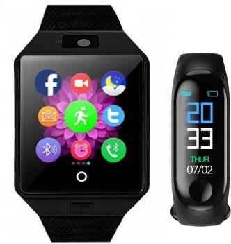 Time Up ComboFitness Tracker Band Black Smartwatch Image