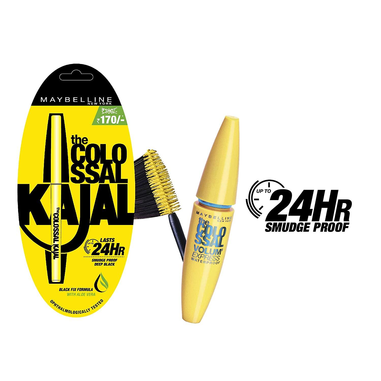 Maybelline New York Colossal Kajal & Colossal Mascara Combo Pack Image