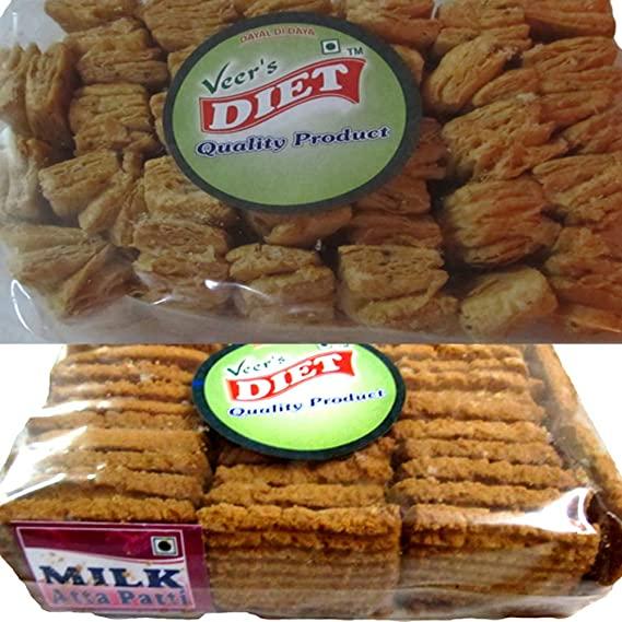 Veer's Diet Milk Aata Biscuit Image