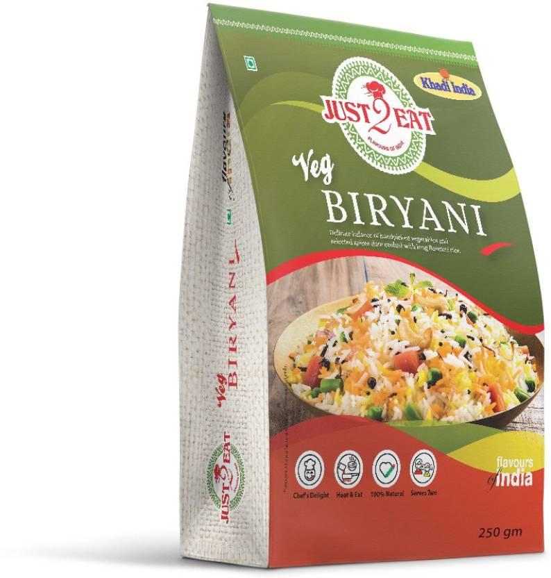 Just 2 Eat Veg Biryani RTE Image