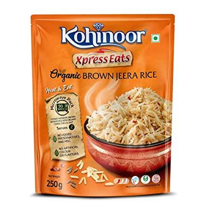 Kohinoor Xpress Eats Organic Brown Jeera Rice Image