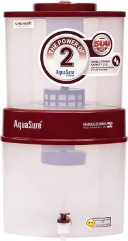 Eureka Forbes Aquasure from Aquaguard Cherish 21L Gravity Based Water <br />Purifier Image