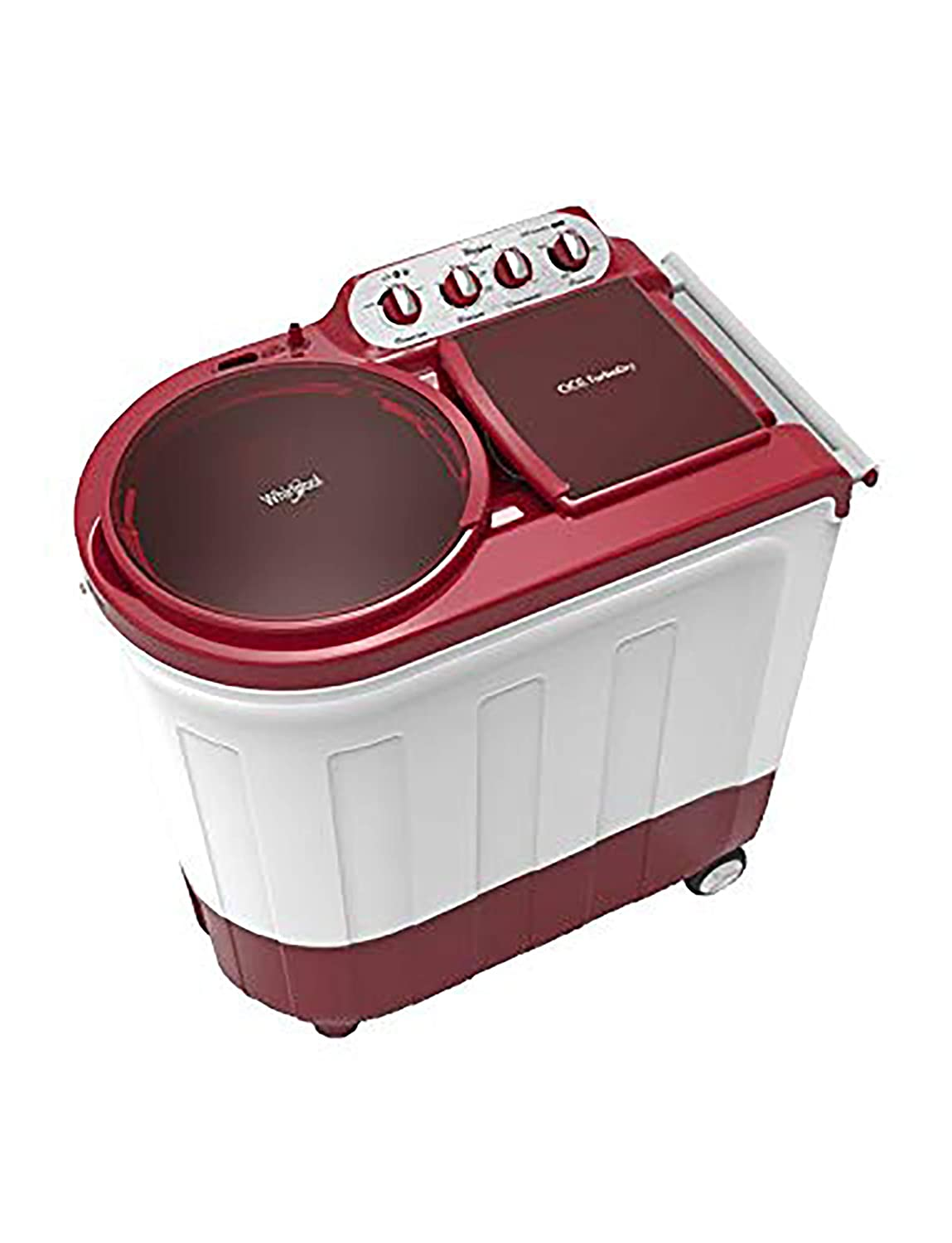 Whirlpool 8.5Kg Semi Automatic Top Loading Washing Machine Coral Red ACE 8.5 TURBO DRY Image