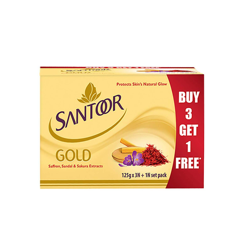 Santoor Gold Saffron Soap Image