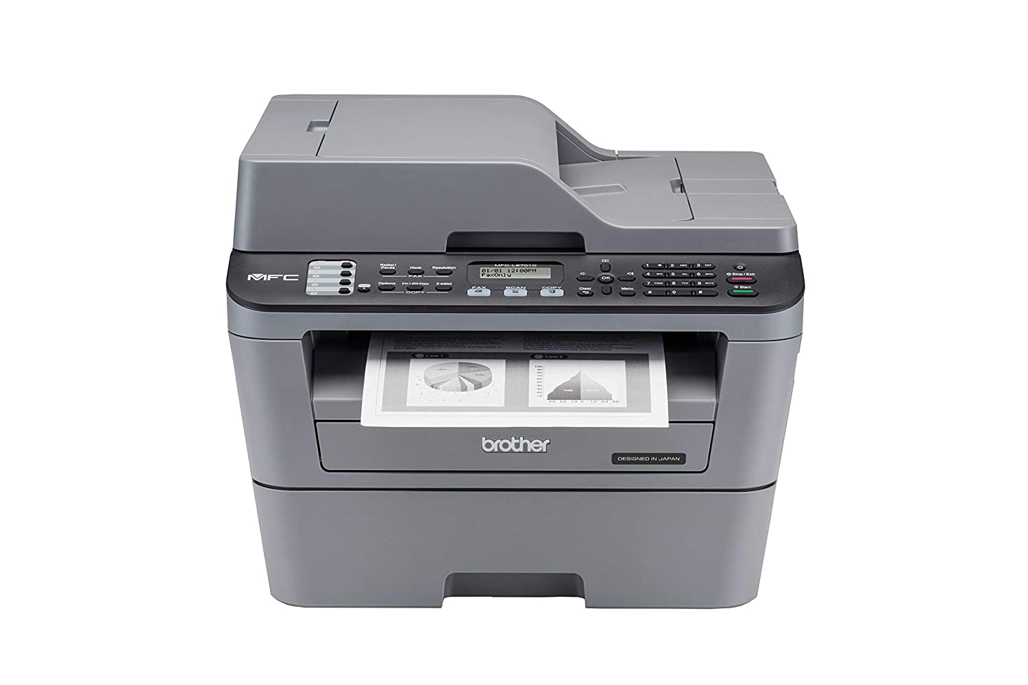 Brother MFC L2701D Multi-Function Monochrome Laser Printer with Auto Duplex Printing Image
