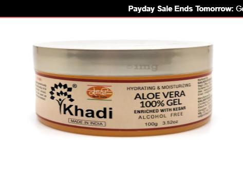 Khadi India Aloe Vera with Kesar Image