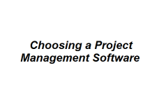 Choosing a Project Management Software