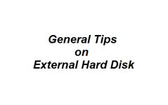 General Tips on External Hard Disk
