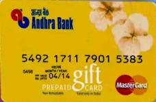 Andhra Bank MasterCard Credit Card