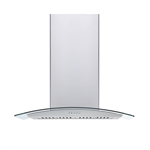 Effon 60cm 1000m3 hr glass6056pb Hood Chimney steel