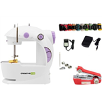 CreativeVia Exclusive 4 In 1 Portable & Compact With Accessories Mini Electric Sewing Machine
