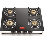 Prestige Marvel LP Gas Table with Glass Top Manual 4 Burner Gas Stove