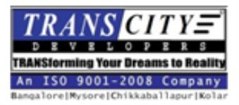 TRANSCITY DEVELOPERS - BANGALORE Reviews, Projects, Address