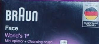 Braun Face 810 Facial Epilator and Facial Cleansing Brush