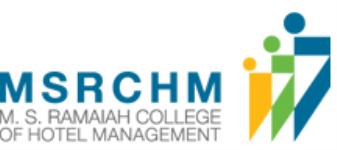 MS Ramaiah College of Hotel Management (MSRCHM) - Bangalore