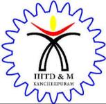 Indian Institute of Information Technology Design & Manufacturing [IIITDM] - Chennai