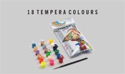 Doms 18 Shades Tempera Colours
