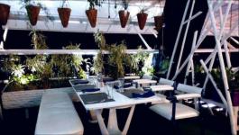 Blue: Rooftop Cafe Restaurant Bistro - C G Road - Ahmedabad