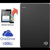 Seagate 2 Tb Back Up Plus Portable Drive Usb 3.0 Hard 200 Gb Cloud Storage External Hard Drive