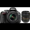 Nikon D5200 (with AFS 18 55 mm VR Kit + AFS NIKKOR 50 mm F/1.8G Le DSLR Camera